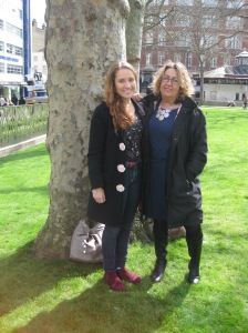 Leicster Square with my aunt